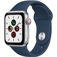 Apple Watch SE 40mm Cellular Silver Aluminium Case with Abyss Blue Sport Band - Smartwatch