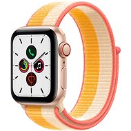 Apple Watch SE 44mm Cellular Gold Aluminium Case with Maize/White Sport Loop - Smartwatch