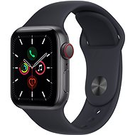 Apple Watch SE 44mm Cellular Space Grey Aluminium Case with Midnight Sport Band - Smartwatch
