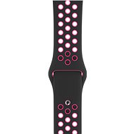 44mm Apple Watch Black/Pink Pink Sport Band - S/M & M/L - Watch band