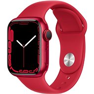 Apple Watch Series 7 41mm Cellular Red Aluminium Case with Red Sport Band - Smartwatch