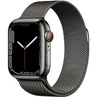 Apple Watch Series 7 41mm Cellular Graphite Stainless Steel with Graphite Milanese Loop - Smartwatch