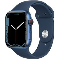 Apple Watch Series 7 45mm Cellular Blue Aluminium Case with Abyss Blue Sport Band - Smartwatch