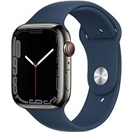 Apple Watch Series 7 45mm Cellular Graphite Stainless-Steel with Abyss Blue Sport Band - Smartwatch