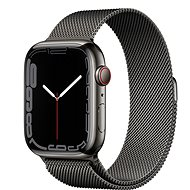 Apple Watch Series 7 45mm Cellular Graphite Stainless Steel with Graphite Milanese Loop - Smartwatch