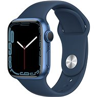 Apple Watch Series 7 41mm Blue Aluminium Case with Abyss Blue Sport Band - Smartwatch