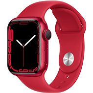 Apple Watch Series 7 41mm Red Aluminium Case with Red Sport Band - Smartwatch
