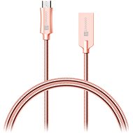 CONNECT IT Wirez Steel Knight Micro USB 1m, metallic rose-gold - Data cable