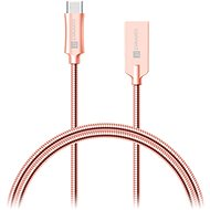 CONNECT IT Wirez Steel Knight USB-C 1m, Metallic Rose-Gold - Data cable
