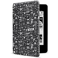 CONNECT IT CEB-1043-BK for Amazon NEW Kindle Paperwhite 2018, Doodle black - E-book Reader Case