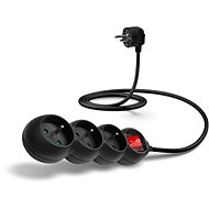 CONNECT IT Extension Cord 230V, 3 Sockets + Switch, 1.5m, Black - Extension Cord