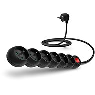 CONNECT IT Extension Cord 230V, 6 Sockets + Switch, 2m, Black - Extension Cord