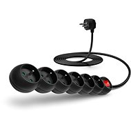 CONNECT IT Extension Cord 230V, 6 Sockets + Switch, 3m, Black