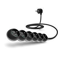 CONNECT IT Power extension cord 230V, 6 sockets, 2m, black