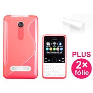 CONNECT IT S-Cover for Nokia Asha 210 red - Mobile Phone Case