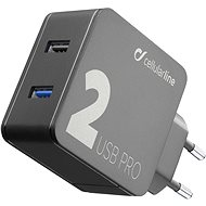 Cellularline Multipower 2 PRO with Smartphone Detect 2 x USB port 30W black - Charger