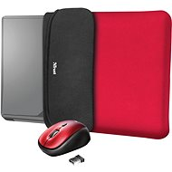 TRUST YVO MOUSE & SLEEVE F/15.6 – RED - Laptop Case