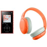 Sony MP4 16GB NW-A105L  - Orange + Sony Hi-Res WH-H910N, Orange-Grey