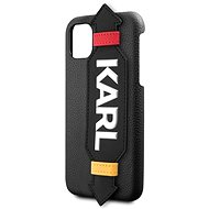 Karl Lagerfeld Strap for iPhone 11, Black - Mobile Case