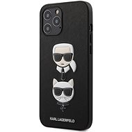 Karl Lagerfeld Saffiano K&C Heads for Apple iPhone 12 Pro Max, Black