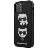 Karl Lagerfeld Saffiano K&C Heads for Apple iPhone 12/12 Pro, Black - Mobile Case