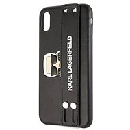 Karl Lagerfeld Head Hand Strap for iPhone XR, Black