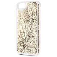 Karl Lagerfeld Signature Glitter for iPhone 8/SE 2020, Gold - Mobile Case