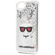 Karl Lagerfeld Heads Glitter for iPhone 8/SE 2020, Silver