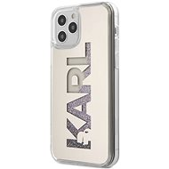 Karl Lagerfeld Liquid Glitter Mirror for Apple iPhone 12 Pro Max, Silver - Mobile Case