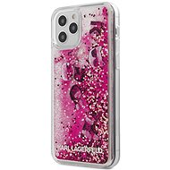 Karl Lagerfeld Liquid Glitter Charms for Apple iPhone 12/12 Pro, Pink - Mobile Case