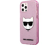 Karl Lagerfeld Choupette Head Glitter Cover for Apple iPhone 12/12 Pro, Pink