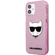 Karl Lagerfeld Choupette Head Glitter Cover for Apple iPhone 12 mini, Pink