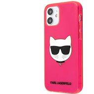 Karl Lagerfeld TPU Choupette Head Cover for Apple iPhone 12 mini, Fluo Pink