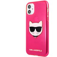 Karl Lagerfeld TPU Choupette Head Cover for Apple iPhone 11, Fluo Pink