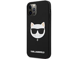 Karl Lagerfeld Choupette Head Silicone Case for Apple iPhone 12/12 Pro, Light Black - Mobile Case
