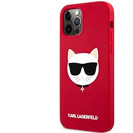 Karl Lagerfeld Choupette Head Silicone Case for Apple iPhone 12/12 Pro Light, Red - Mobile Case