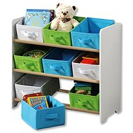 Kesper Children's Storage Rack with 9 Textile Drawers, white - Shelf