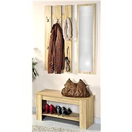 Kesper Wall Wardrobe with Mirror and Bench - Shelf