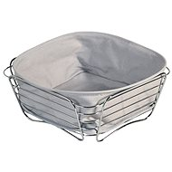Kesper Stainless-Steel Basket with removable lining 26x26cm - Basket