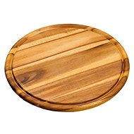 Kesper Round Cutting Board Made of Acacia Wood, Diameter of 25cm