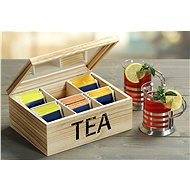 Kesper Tea Box,  Natural Wood - Organiser