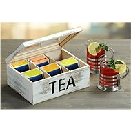 Kesper Tea Box, Wooden White - Organiser