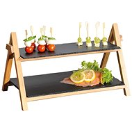 Kesper Bamboo Stand with Slate Boards - Serving Set