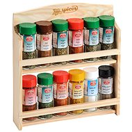 Kesper Shelf with 12 Spice Jar - Spice Container Set
