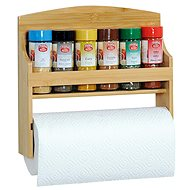 Kesper Shelf with Spice Jars and Paper Roll