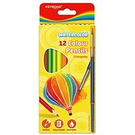 KEYROAD Watercolour Triangular with Brush, 12 colours
