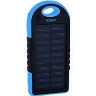 XLAYER Powerbank PLUS Solar 4000mAh black/blue - Powerbank