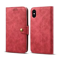 Lenuo Leather for iPhone X/Xs, Red - Mobile Phone Case