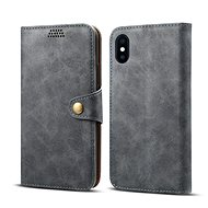 Lenuo Leather for iPhone X/Xs, Grey - Mobile Phone Case