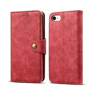Lenuo Leather for iPhone iPhone SE 2020/8/7, Red - Mobile Phone Case